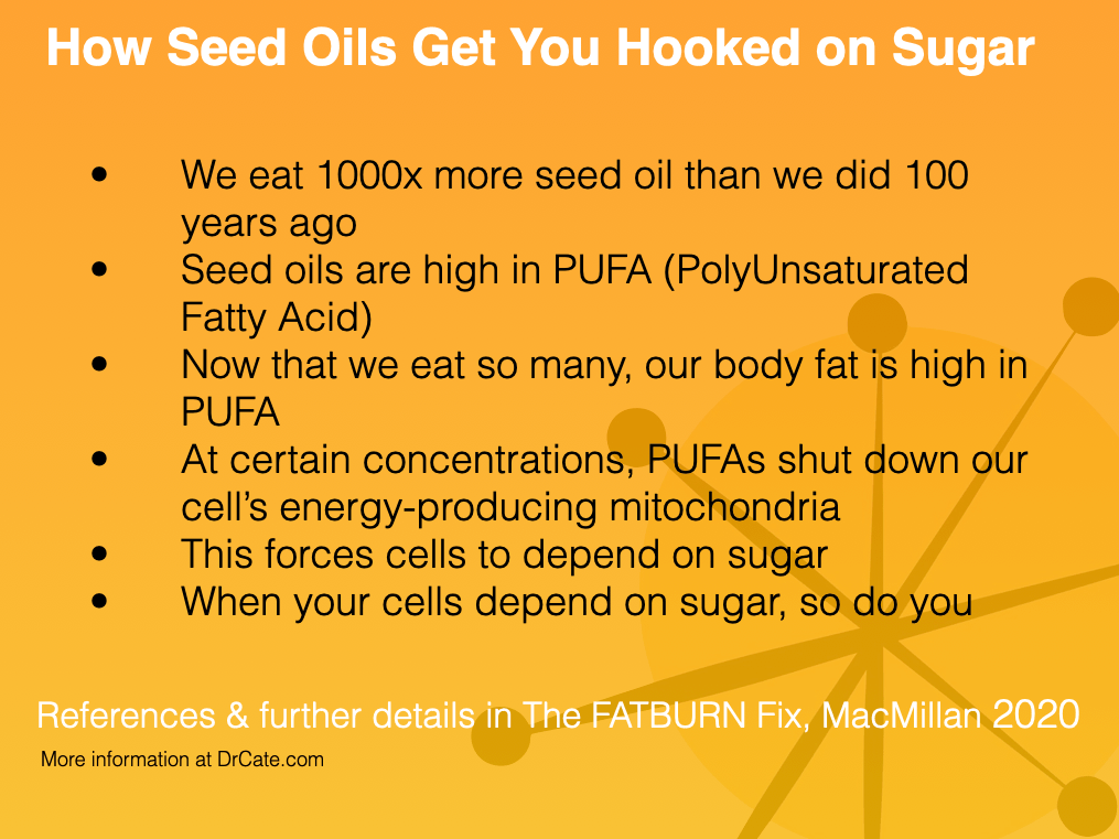 Seed oils drive sugar addiction from the level of your cells